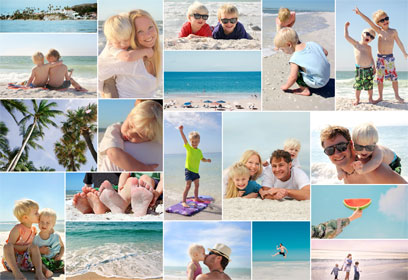 Collage Urlaub